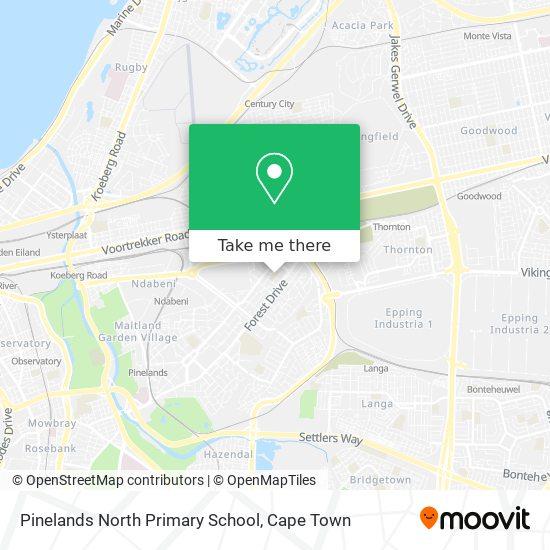 Pinelands North Primary School map