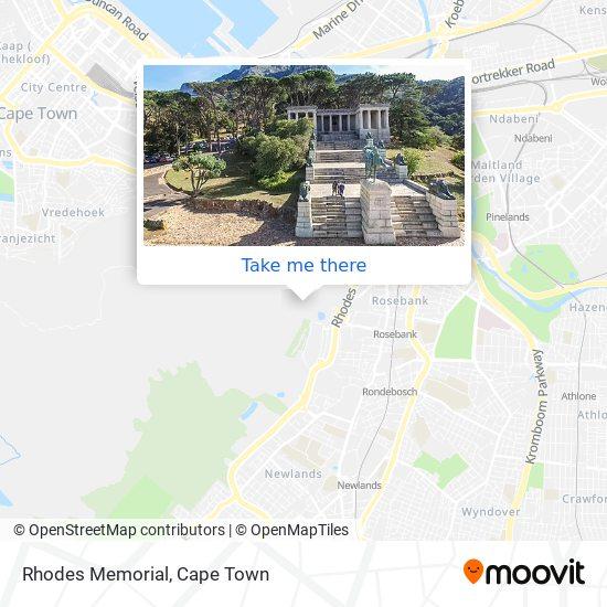 Rhodes Memorial map