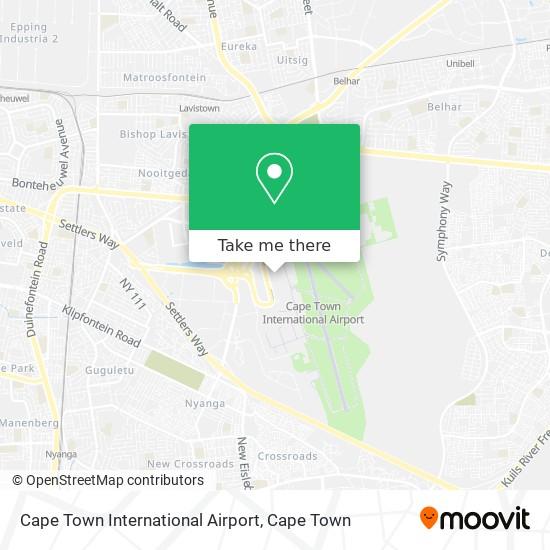 Cape Town International Airport map