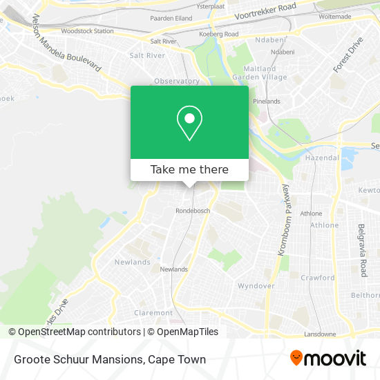 Groote Schuur Mansions map