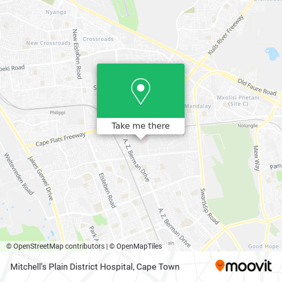 Mitchell's Plain District Hospital map