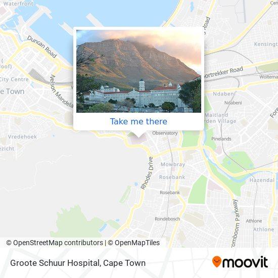 Groote Schuur Hospital map