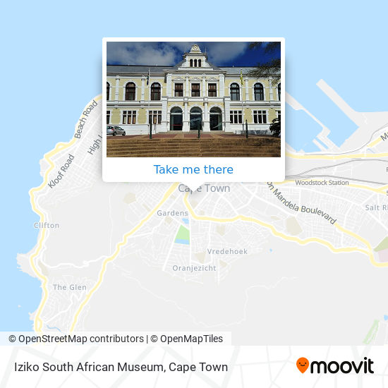 Iziko South African Museum map