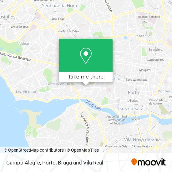 Campo Alegre map