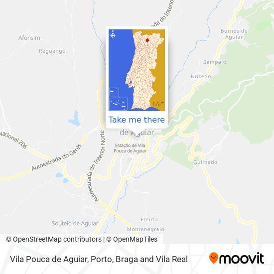 Mapa Vila Pouca De Aguiar