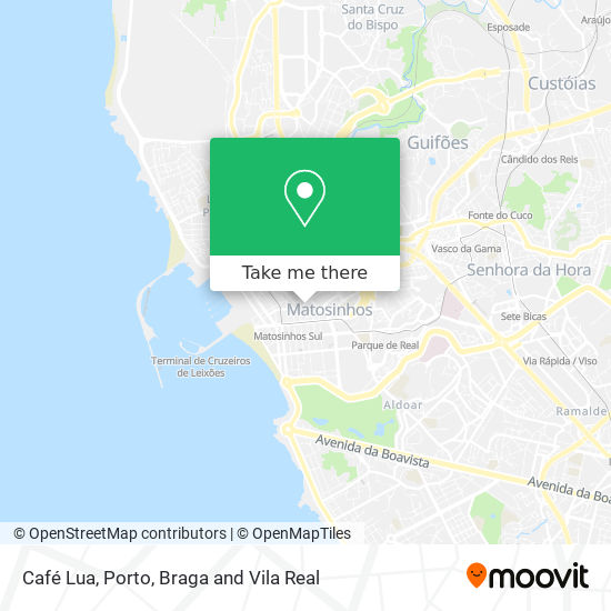 Café Lua map