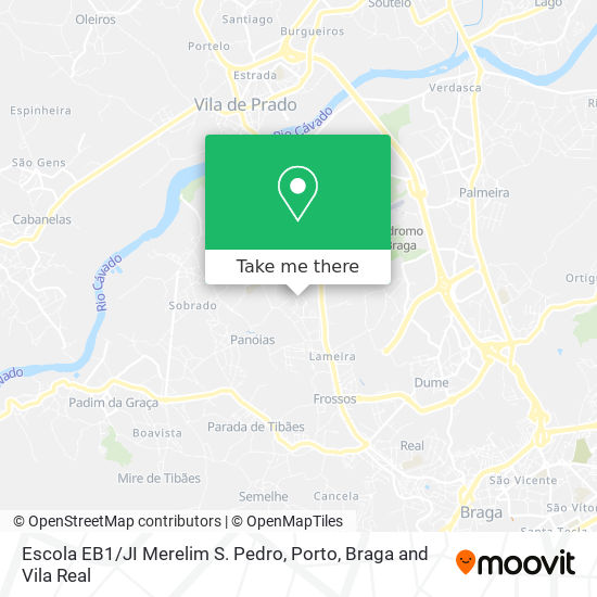 Mapa Escola EB1/JI Merelim S. Pedro