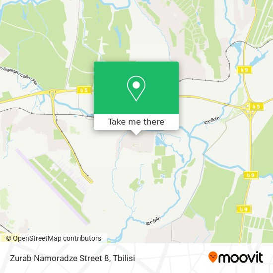 Zurab Namoradze Street 8 map