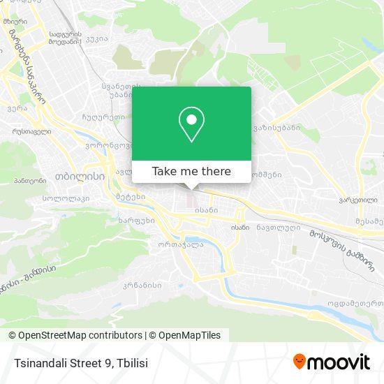 Tsinandali Street 9 map