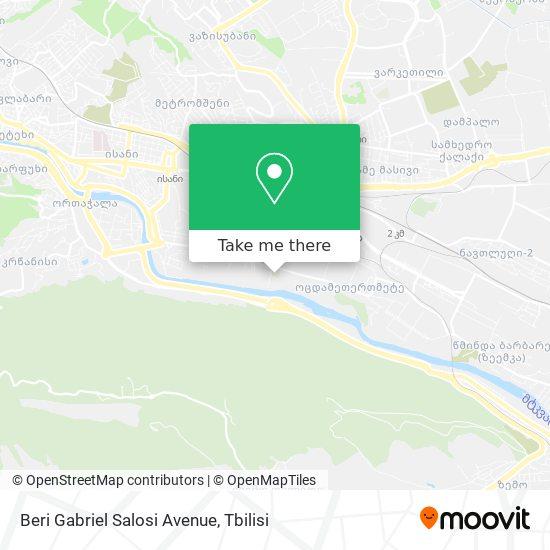 Beri Gabriel Salosi Avenue map