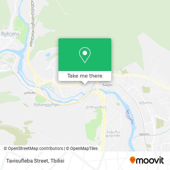 Tavisufleba Street map