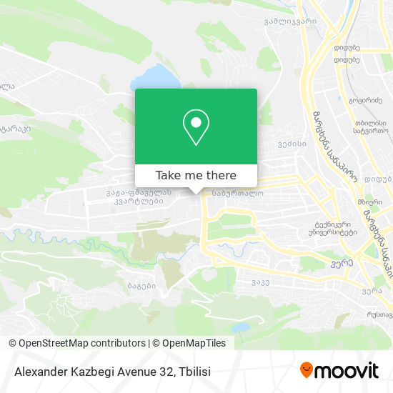 Alexander Kazbegi Avenue 32 map
