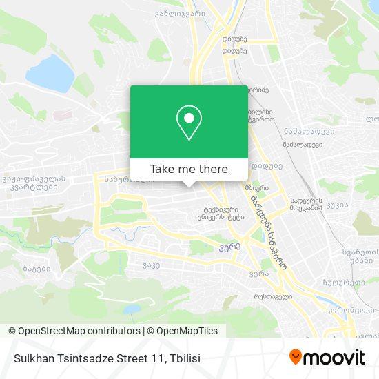 Sulkhan Tsintsadze Street 11 map