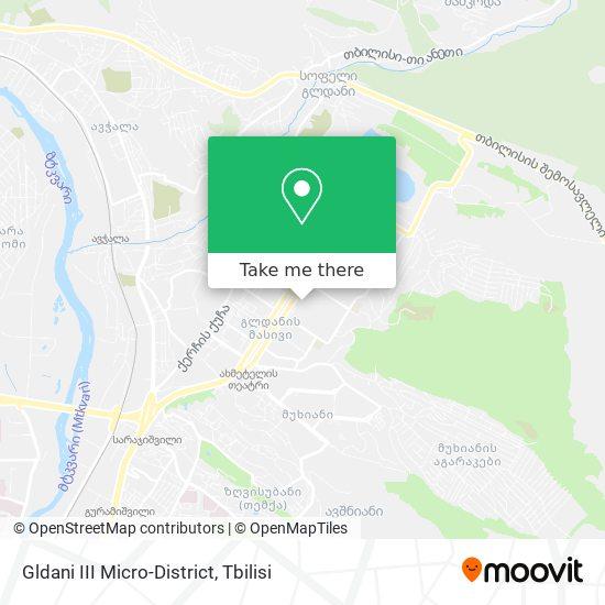 Gldani III Micro-District map