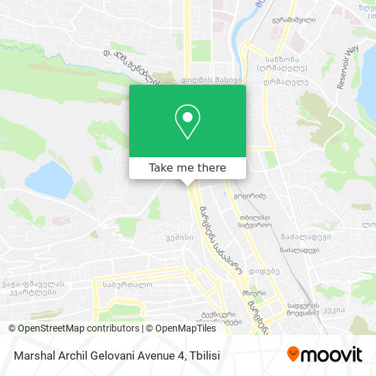 Marshal Archil Gelovani Avenue 4 map