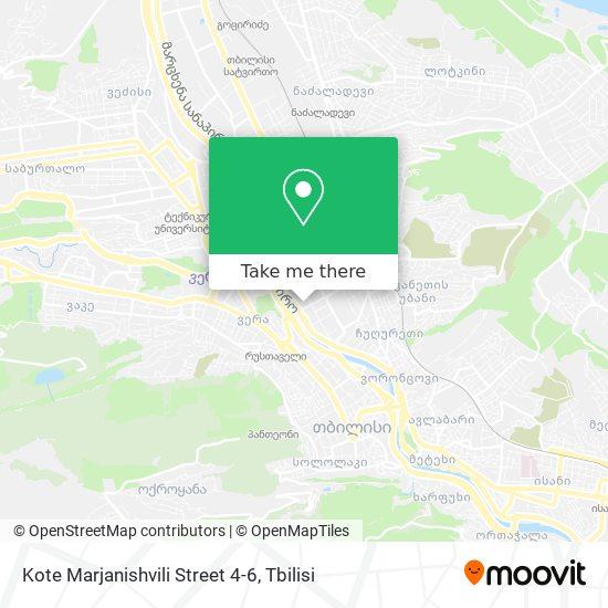 Kote Marjanishvili Street 4-6 map