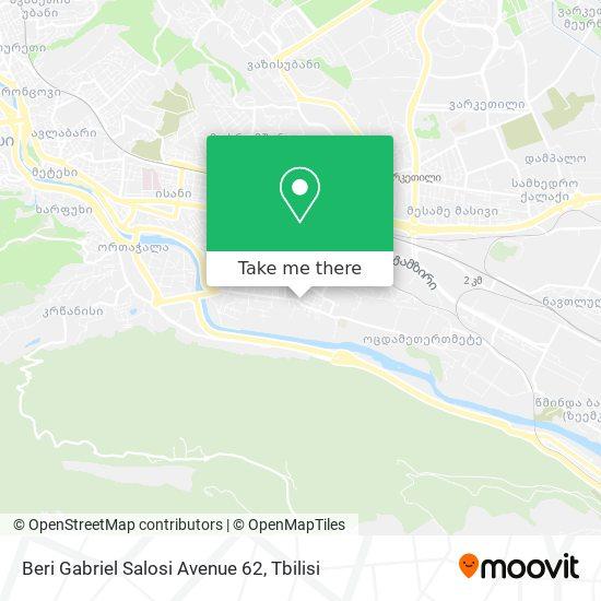 Beri Gabriel Salosi Avenue 62 map