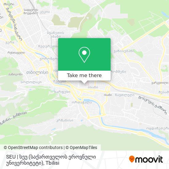 SEU | სეუ (საქართველოს ეროვნული უნივერსიტეტი) map