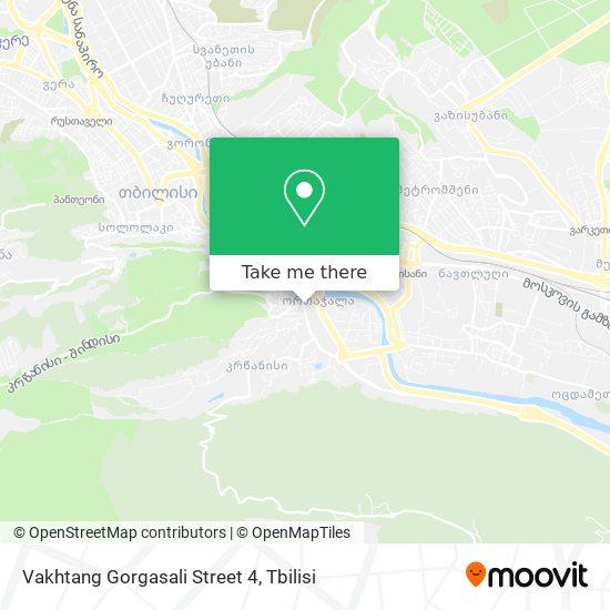 Vakhtang Gorgasali Street 4 map