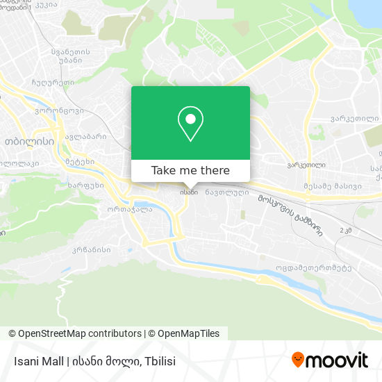 Isani Mall | ისანი მოლი map