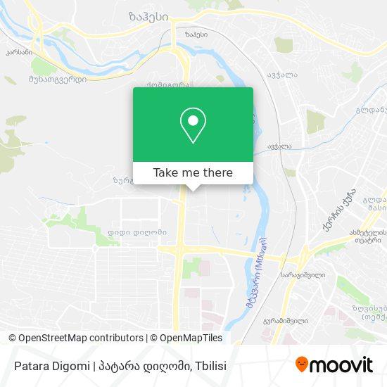 Patara Digomi   პატარა დიღომი map