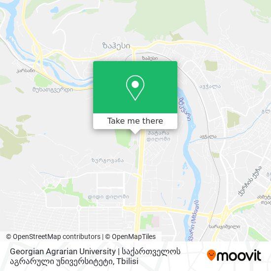 Georgian Agrarian University  | საქართველოს აგრარული უნივერსიტეტი map