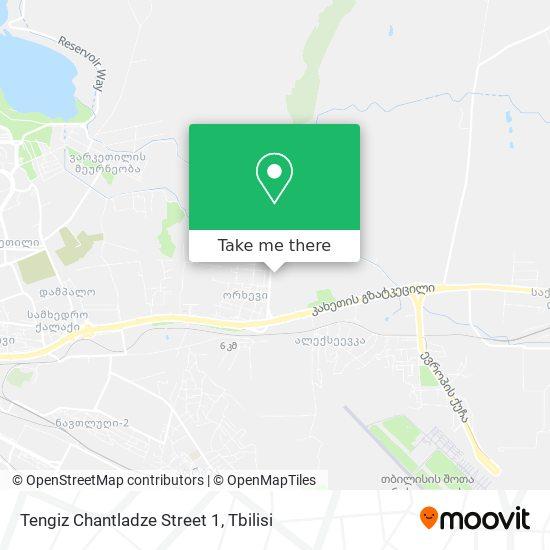 Tengiz Chantladze Street 1 map
