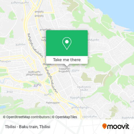 Tbilisi - Baku train map