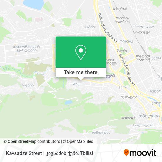 Kavsadze Street   კავსაძის ქუჩა map