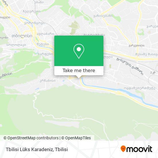 Tbilisi Lüks Karadeniz map