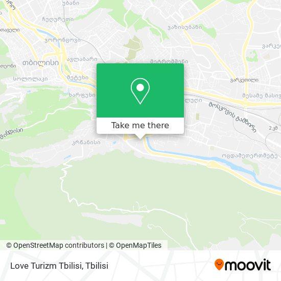 Love Turizm Tbilisi map