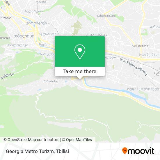 Georgia Metro Turizm map