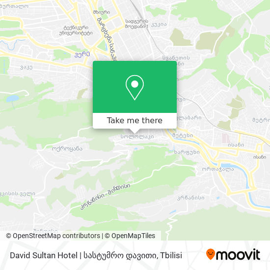 David Sultan Hotel | სასტუმრო დავითი map