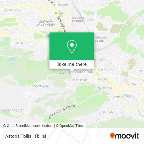Astoria Tbilisi map