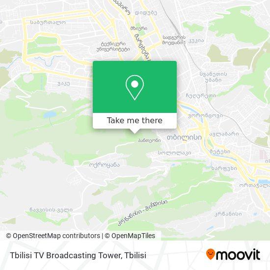 Карта Tbilisi TV Broadcasting Tower