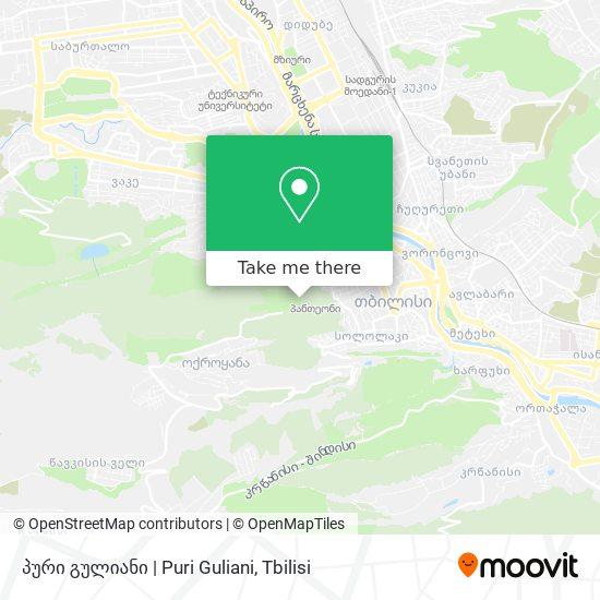 პური გულიანი   Puri Guliani map