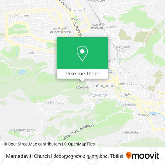 Mamadaviti Church | მამადავითის ეკლესია map