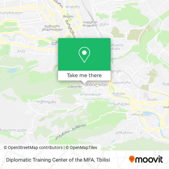Diplomatic Training Center of the MFA map