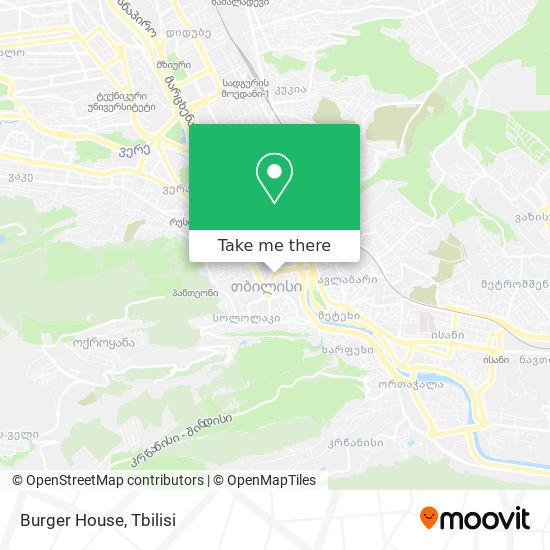 Burger House map