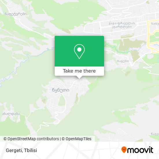 Gergeti map