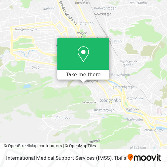 International Medical Support Services (IMSS) map
