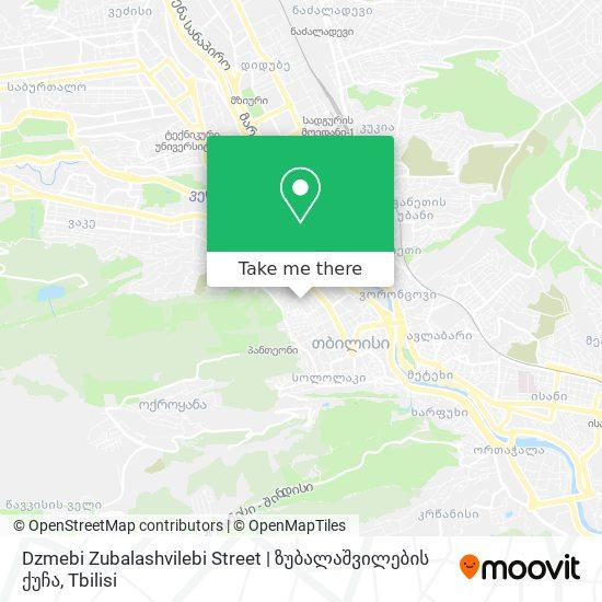 Dzmebi Zubalashvilebi Street   ზუბალაშვილების ქუჩა map
