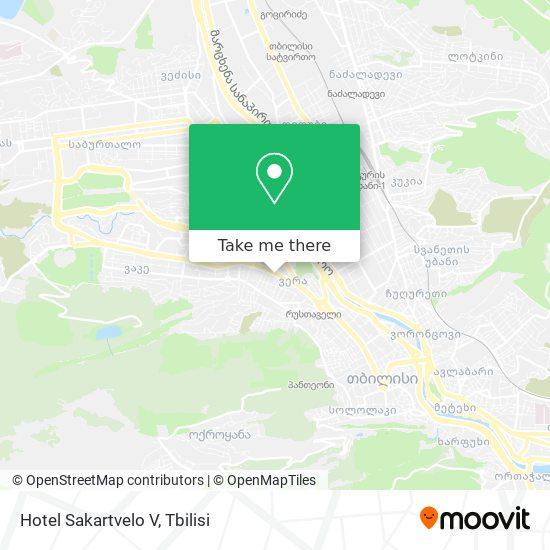 Hotel Sakartvelo V map