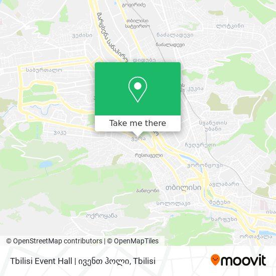 Tbilisi Event Hall | ივენთ ჰოლი map