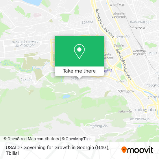 USAID - Governing for Growth in Georgia (G4G) map