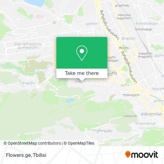 Flowers.ge map