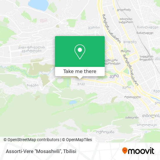 "Assorti-Vere ""Mosashvili"" map"