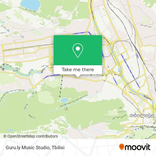 Guru.ly  Music Studio map
