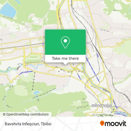 Bavshvta Infeqciuri map