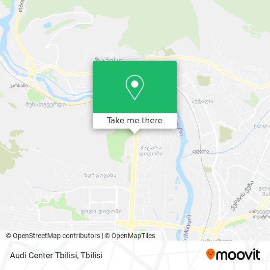 Audi Center Tbilisi map